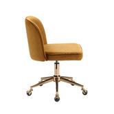 Temple & Webster Juliet Velvet Home Office Chair