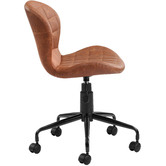 Temple & Webster Brown Aviator Faux Leather Home Office Chair