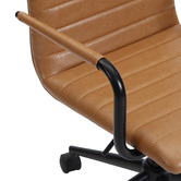 Temple & Webster Vintage Mose Faux Leather Home Office Chair