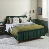 Temple & Webster Dark Green Emily Velvet Bed