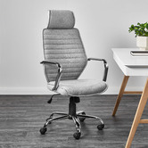 Temple & Webster Grey Nate Executive Office Chair
