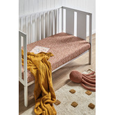 Temple & Webster Wildflower Organic Cotton Fitted Cot or Bassinet Sheet