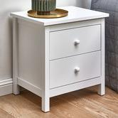 Temple & Webster White Noosa 2 Drawer Bedside Table