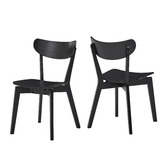 Temple & Webster Black Larsen Wooden Dining Chairs