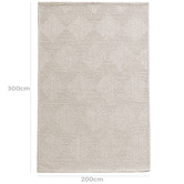 Temple & Webster Ivory Mason Hand-Tufted Wool Blend Rug