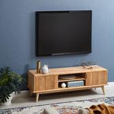 Temple & Webster Oscar Solid Oak TV Unit