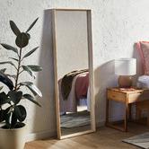 Temple & Webster Blonde Block Full Length Mirror