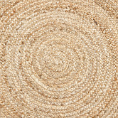 Temple & Webster Natural Alba Hand-Woven Jute Round Rug