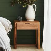 Temple & Webster Olwen Oak Wood Bedside Table