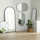 Temple & Webster Black Arch Iron Full Length Wall Mirror