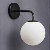 Temple & Webster Metro Glass & Steel Wall Sconce
