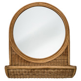 Temple & Webster Rubi Rattan Wall Mirror