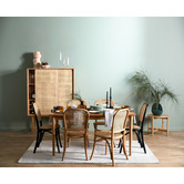 Temple & Webster Luca Beech & Rattan Dining Chairs