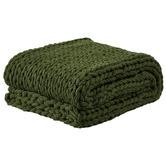 Temple & Webster Tonal Greens Cushion & Throw Set