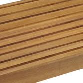 Temple & Webster 3 Seater Natural Santa Cruz Acacia Wood Outdoor Bench