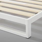 Temple & Webster White Brienne Steel Bed Frame