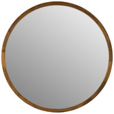 One Six Eight London Tina Round Wooden Mirror