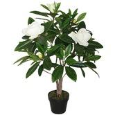 High ST. 90cm Potted Artificial Faux Magnolia Plant