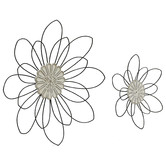 High ST. 2 Piece Moulded Centre Flower Wall Accent