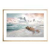 Iconiko Calm Shores Framed Printed Wall Art