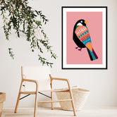 Iconiko Sassy Cookoo Acrylic Wall Art