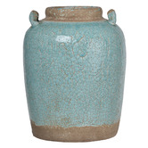 Chartwell Home 37cm Pale Turquoise Cadence Ceramic Vase