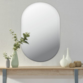 Maddison Lane Issy Urban Oval Frameless Wall Mirror