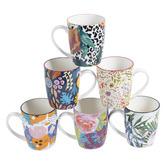 Maddison Lane 6 Piece Floral Ceramic Mug Set