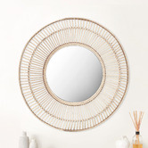 Maddison Lane Cebu Round Rattan Mirror
