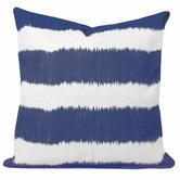 Cushion Bazaar Blue Stripe Ikat Bayou Cushion