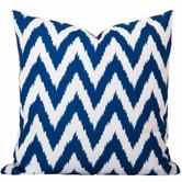 Cushion Bazaar Blue Coastal Ikat Gaia Cushion