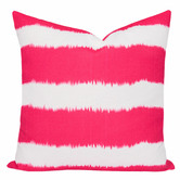 Cushion Bazaar Pink Watermelon Stripe Ikat Bayou Cushion