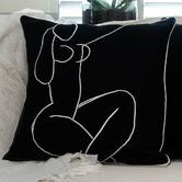 Cushion Bazaar Art Masters Matisse Seated Nude Linen Cushion