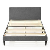 Studio Home Charcoal Laybell Fabric Bed with Headboard