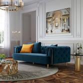 West End Furniture Mia 2 Seater Velvet Sofa
