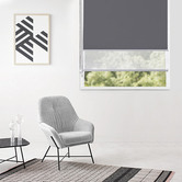 Window Solutions Charcoal Torquay Day & Night Roller Blind