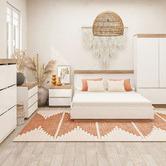 Nordic House White Tia Bed Frame
