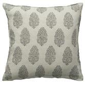 L & M Home Printed Lodhi Linen Cushion