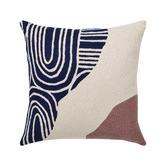 L & M Home Tidal Cotton Square Cushion