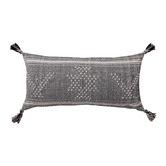 L & M Home Tumi Hand-Woven Wool & Cotton Lumbar Cushion