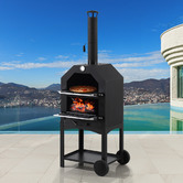 Oakleigh Home 3-In-1 Portable Charcoal BBQ Grill, Pizza Oven & Smoker