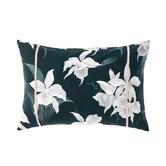 Grace By Linen House Mist Cattleya Cotton Cushion
