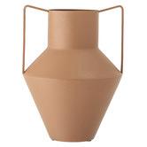 BloomingVille Brown Metal Vase