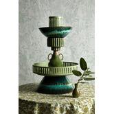 BloomingVille Green Ibbi Stoneware Vase