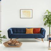 Maine & Crawford 3 Piece Rectangular Jazz Water Hyacinth Pet Bed Set