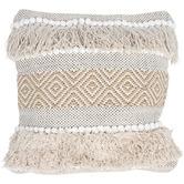 Maine & Crawford Tasselled Diwali Cotton & Jute Cushion Cover