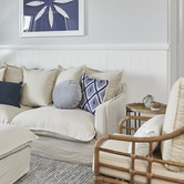 Maine & Crawford Navy & White Wonder Embroidered Cushion