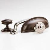 Castella Decade Embossed Brass Knob