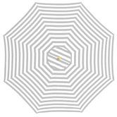 Bistro Breeze 3m Grey & White Striped Peninsula Market Umbrella