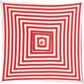 Bistro Breeze 2m Red & White Striped Monte Carlo Market Umbrella